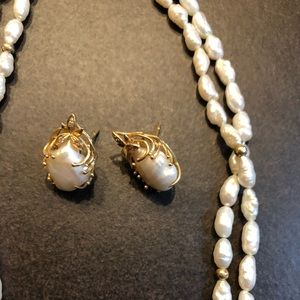 Jewelry - Genuine Vintage pearls with 14 k gold accents